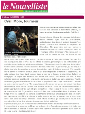 Cyril MORE nouvelliste 2012